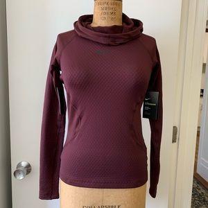 Long Sleeve Cowl Hood Nike Pro Hyperwarm